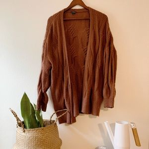 Express oversized knit cardigan